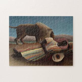 Henri Rousseau The Sleeping Gypsy Lion Moon Night Jigsaw Puzzle