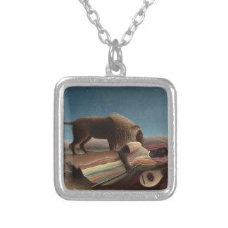 Henri Rousseau The Sleeping Gypsy Lion Moon Night Necklace