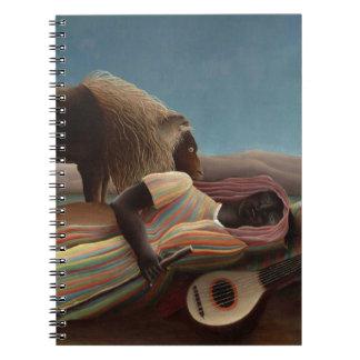 Henri Rousseau The Sleeping Gypsy Lion Moon Night Notebook