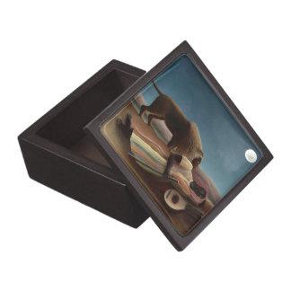 Henri Rousseau The Sleeping Gypsy Lion Moon Night Premium Keepsake Box
