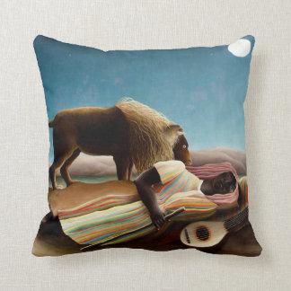 Henri Rousseau The Sleeping Gypsy Pillow