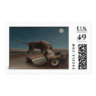 Henri Rousseau - The Sleeping Gypsy Postage Stamps
