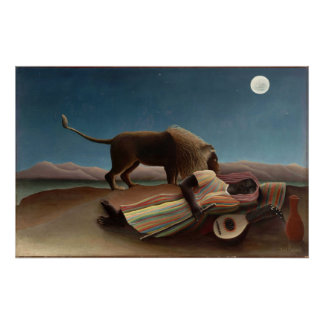 Henri Rousseau The Sleeping Gypsy Print