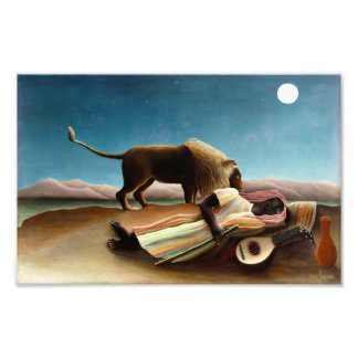 Henri Rousseau The Sleeping Gypsy Print Art Photo