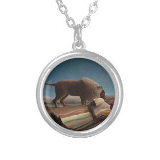 Henri Rousseau The Sleeping Gypsy Silver Plated Necklace