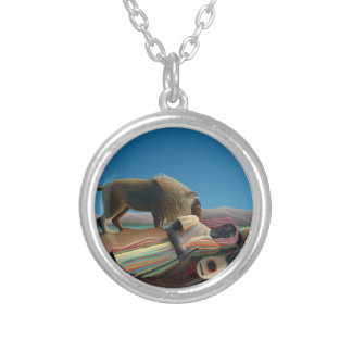 Henri Rousseau - The Sleeping Gypsy Silver Plated Necklace
