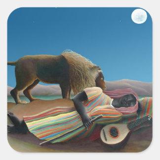 Henri Rousseau - The Sleeping Gypsy Stickers