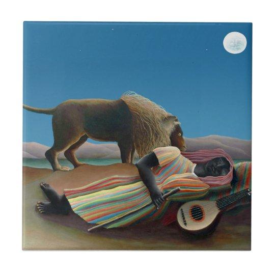 Henri Rousseau - The Sleeping Gypsy Tile