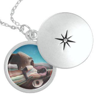 Henri Rousseau The Sleeping Gypsy Vintage Locket Necklace