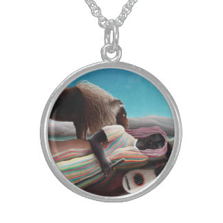 Henri Rousseau The Sleeping Gypsy Vintage Sterling Silver Necklace