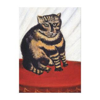 Henri Rousseau - The Tiger Cat ( Le Chat Tigre ) Canvas Print