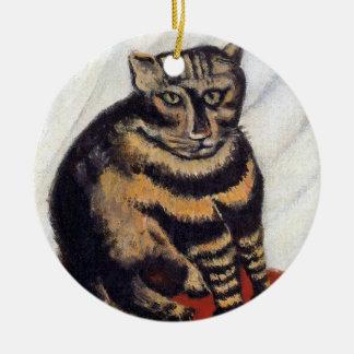 Henri Rousseau - The Tiger Cat ( Le Chat Tigre ) Ceramic Ornament