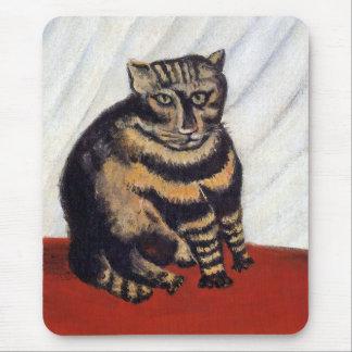 Henri Rousseau - The Tiger Cat ( Le Chat Tigre ) Mouse Pad