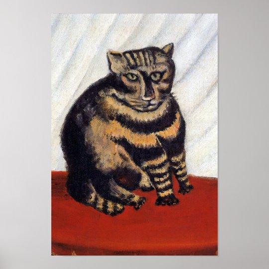 Henri Rousseau - The Tiger Cat ( Le Chat Tigre ) Poster