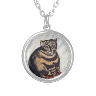 Henri Rousseau - The Tiger Cat ( Le Chat Tigre ) Silver Plated Necklace
