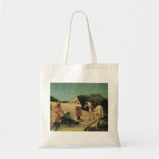 Henri Rousseau- The Tiger Hunt Canvas Bag