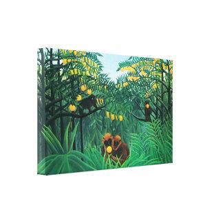 Henri Rousseau The Tropics Canvas Wrap Gallery Wrapped Canvas