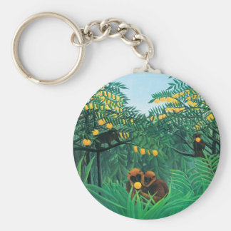 Henri Rousseau The Tropics Key Chain