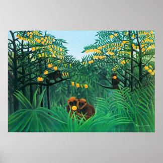 Henri Rousseau The Tropics Poster
