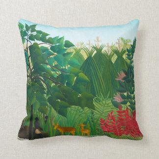 Henri Rousseau The Waterfall Pillow
