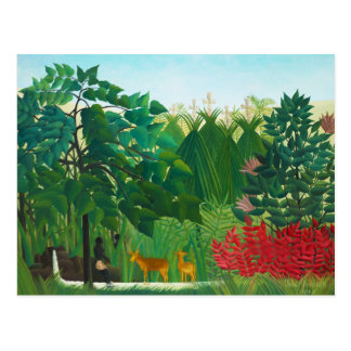 Henri Rousseau The Waterfall Postcard