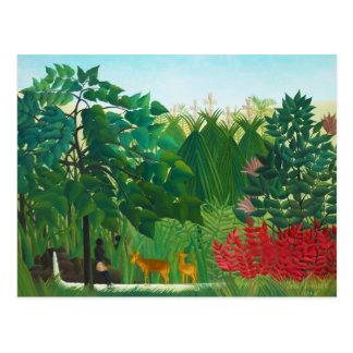 Henri Rousseau The Waterfall Postcard