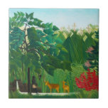 Henri Rousseau The Waterfall Tile