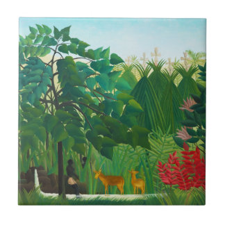 Henri Rousseau The Waterfall Tile