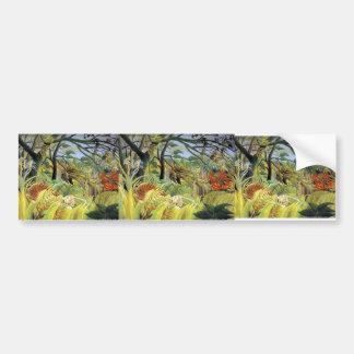 Henri Rousseau- Tiger in a Tropical Storm Bumper Stickers