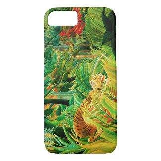 Henri Rousseau Tiger in a Tropical Storm iPhone 8/7 Case