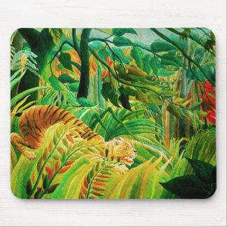 Henri Rousseau Tiger in a Tropical Storm Mousepad