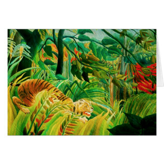 Henri Rousseau Tiger in a Tropical Storm Note Card