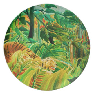 Henri Rousseau Tiger in a Tropical Storm Plate