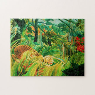 Henri Rousseau Tiger in a Tropical Storm Puzzle