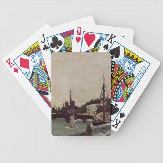 Henri Rousseau- View of the Ile Saint Louis Bicycle Poker Deck