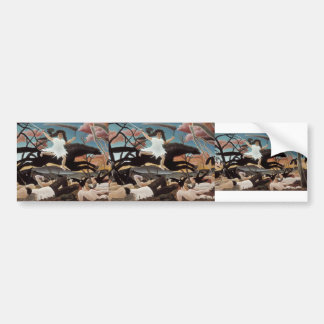 Henri Rousseau- War or the Ride of Discord Bumper Stickers