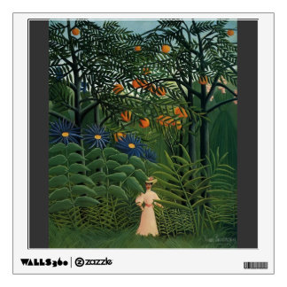 Henri Rousseau- Woman Walking in an Exotic Forest Wall Decals