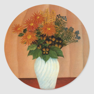 Henri Rousseau's Bouquet of Flowers (circa 1900) Classic Round Sticker