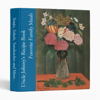 Henri Rousseau's Flowers in a Vase (1909) 3 Ring Binder