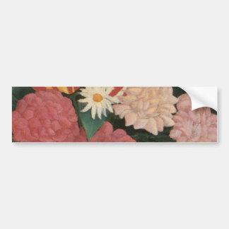 Henri Rousseau's Flowers in a Vase (1909) Bumper Sticker