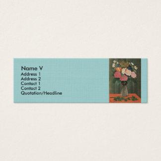 Henri Rousseau's Flowers in a Vase (1909) Mini Business Card