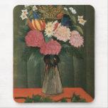 Henri Rousseau's Flowers in a Vase (1909) Mouse Pad