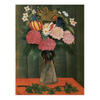 Henri Rousseau's Flowers in a Vase (1909) Postcard