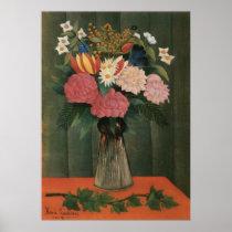 Henri Rousseau Flowers in a Vase