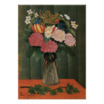 Henri Rousseau's Flowers in a Vase (1909) Poster