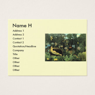 Henri Rousseau's The Dream (1910) Business Card