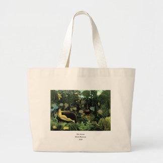 Henri Rousseau's The Dream (1910) Canvas Bag