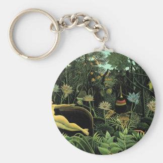 Henri Rousseau's The Dream (1910) Keychain