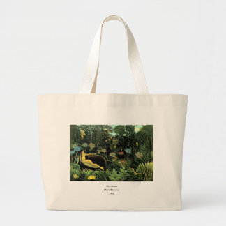 Henri Rousseau's The Dream (1910) Large Tote Bag