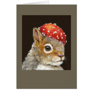 Henri the squirrel card